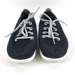 Size 8 Allbirds Dark Grey Light Laces Wool Runners